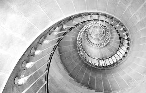 Escalier en pierre colimaçon