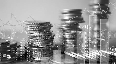 Graphiques financiers et argent